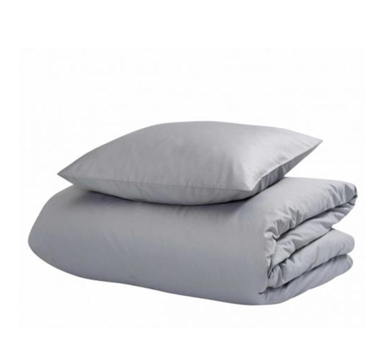 hästens satin pure sengetøj grey