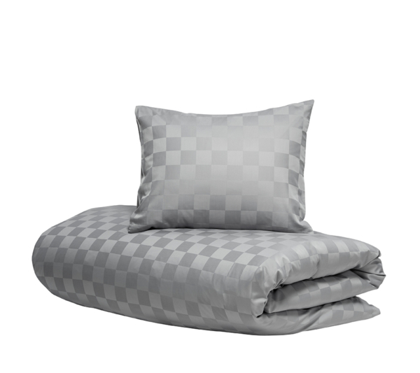 Hästens Satin Check grey