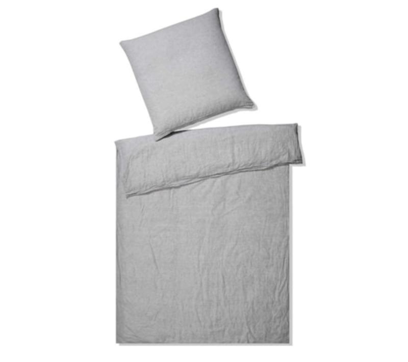 Elegante hør sengetøj grå