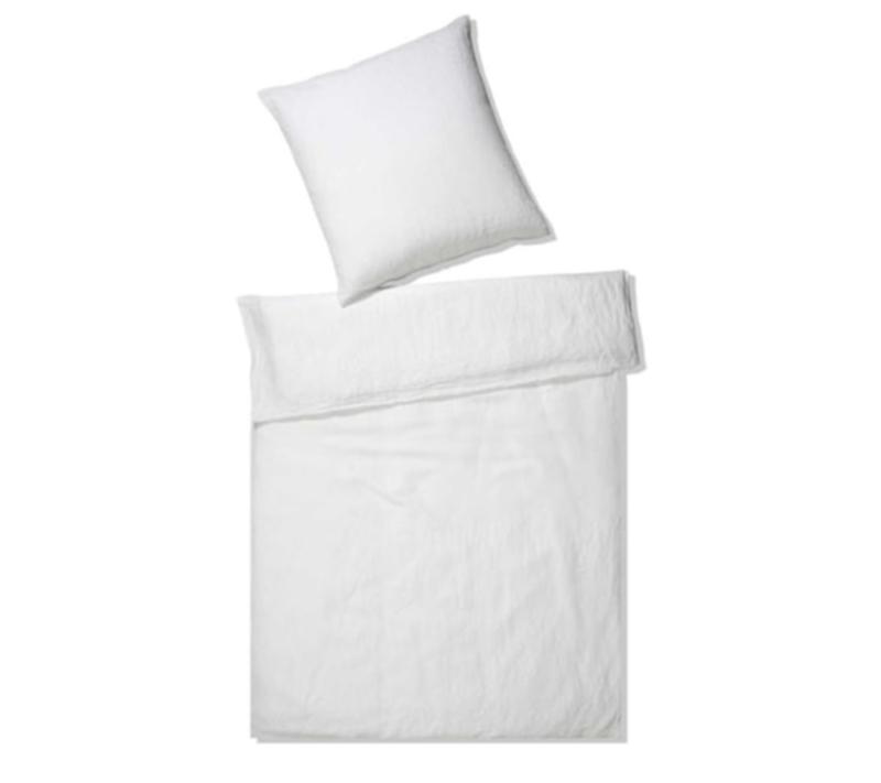 Elegante hør sengetøj hvid