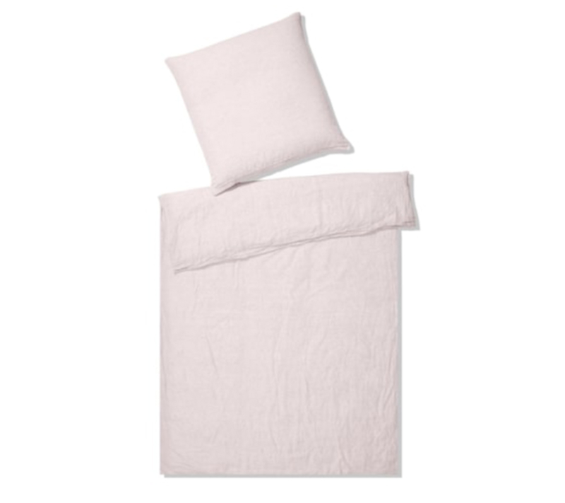 Elegante hør sengetøj lyserød
