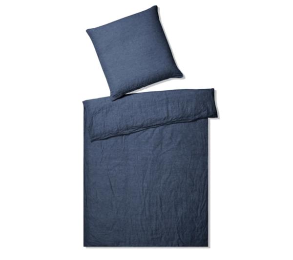 Elegante hør sengetøj mørkeblå