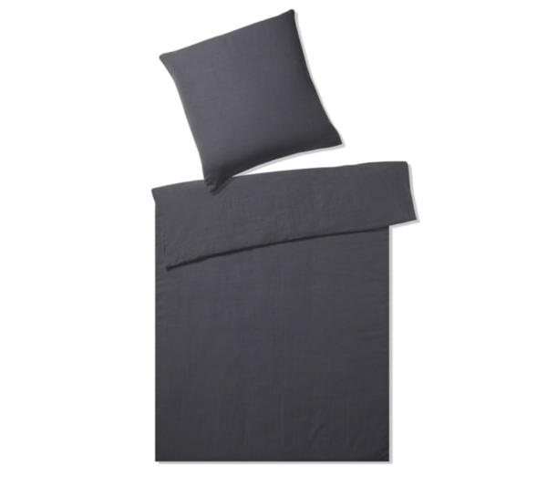 Elegante hør sengetøj mørkegrå