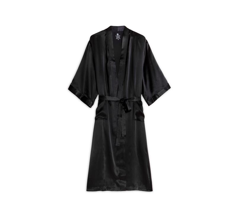 Carpe Diem Mulberry Silke Kimono Black