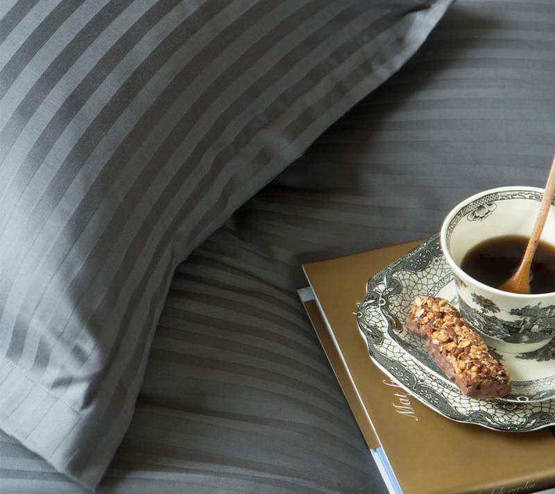 Borås cotten Harmony sengetøj antracit miljøbillede
