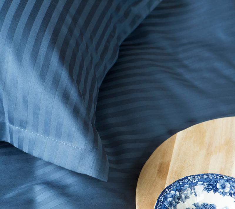 Borås cotten Harmony sengetøj deep blue miljøbillede