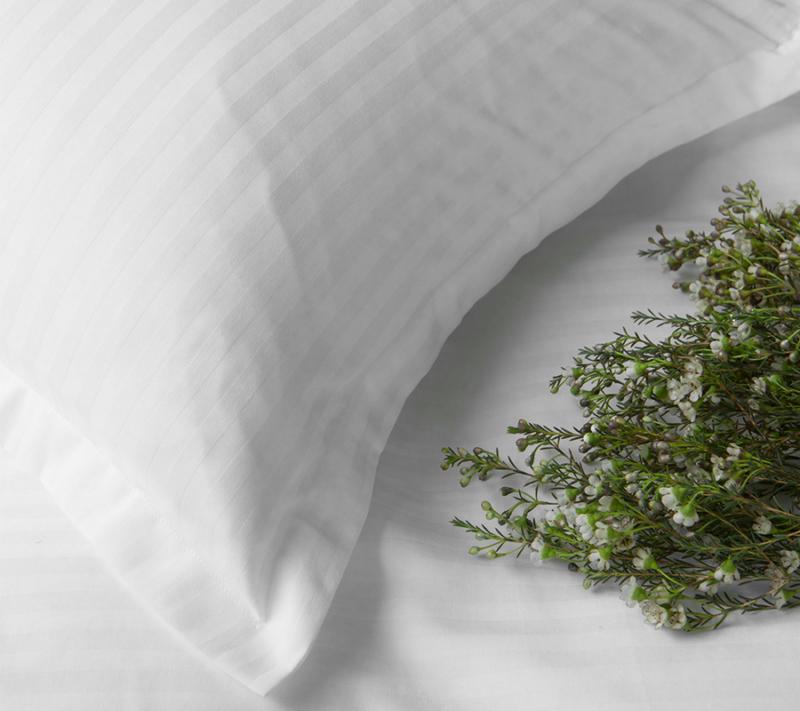 Borås cotten Harmony sengetøj white miljøbillede