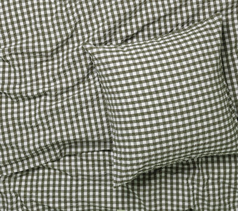 JUNA Bæk og Bølge sengetøj grøn miljøbillede