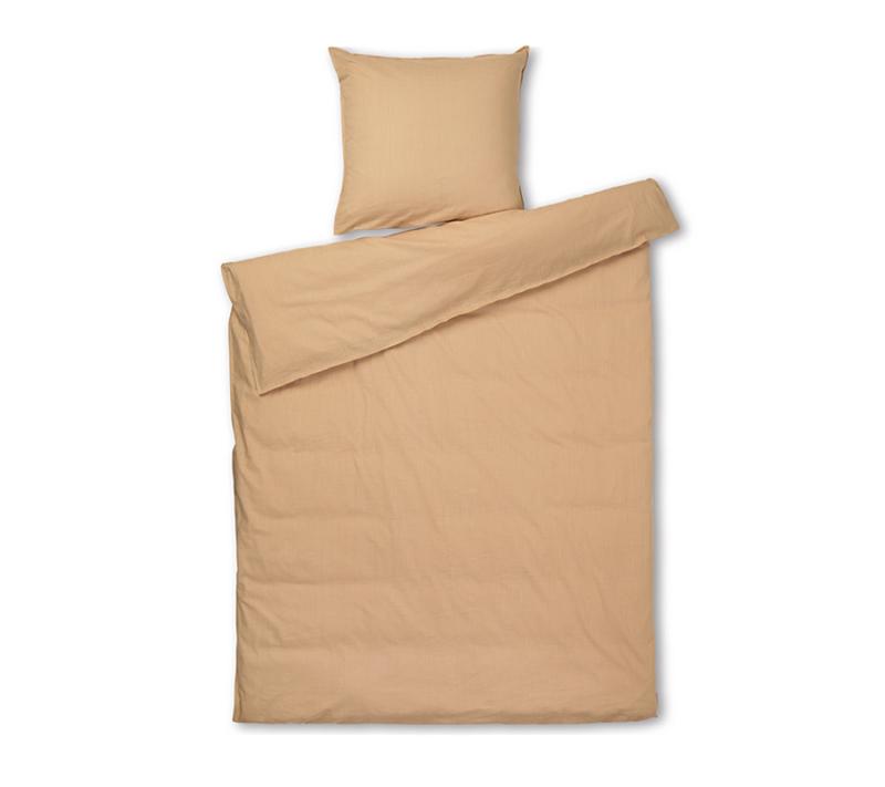 JUNA Monochrome sengetøj Okker