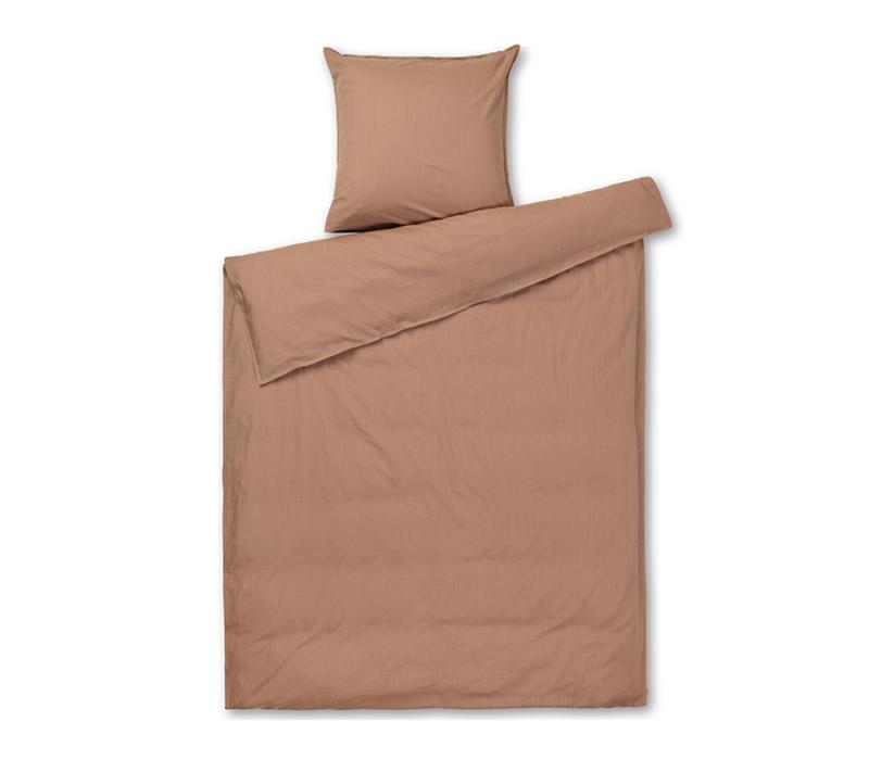 JUNA Monochrome sengetøj Støvet rød