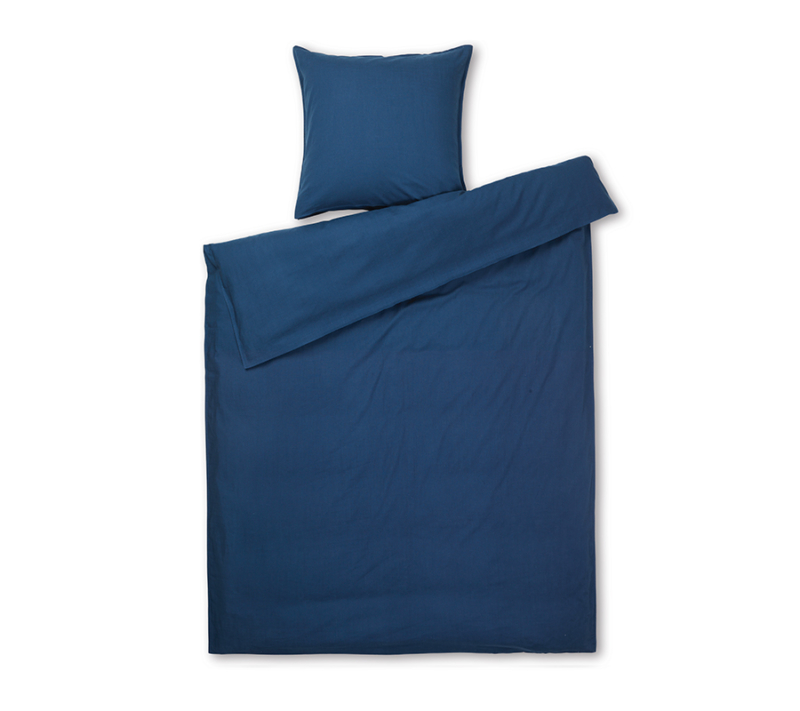 JUNA Monochrome sengetøj Mørk Blå