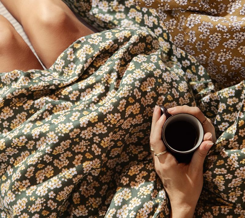JUNA Pleasantly Sengetøj Grøn Miljøbillede