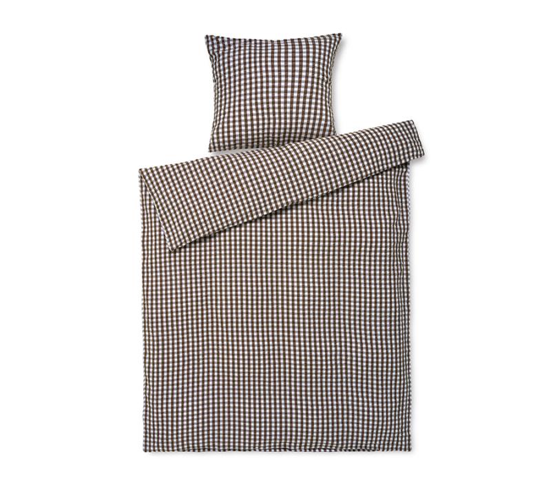 JUNA Bæk og Bølge sengetøj Chokolade