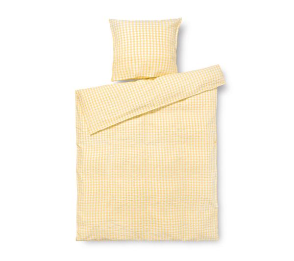 JUNA Bæk og Bølge sengetøj Gul
