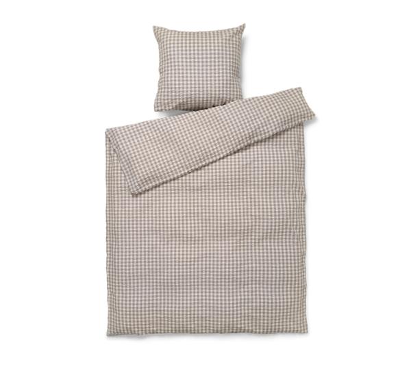 JUNA Bæk og Bølge sengetøj Grå Birk