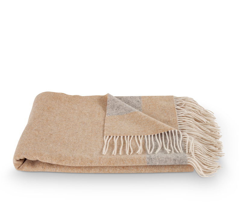 Nordic Weaving Cashmere Tæppe Grey Beige 2