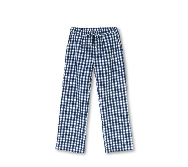 Dark Blue Check Bukser
