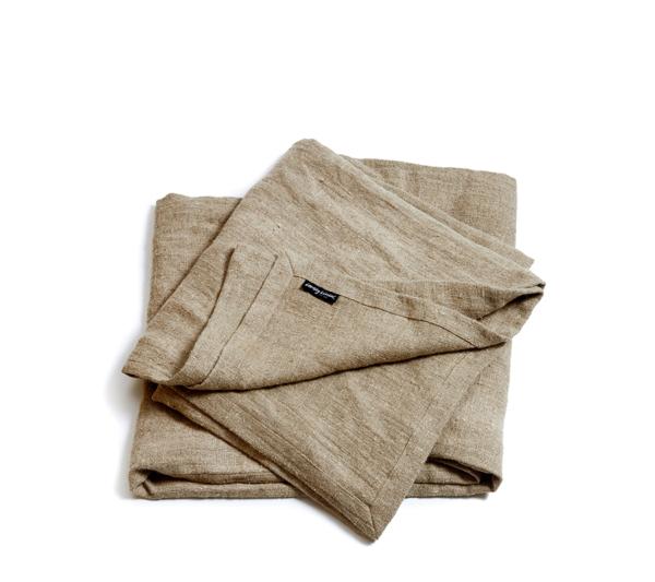 Lovely linen - Rustic sengetæppe - Natural beige