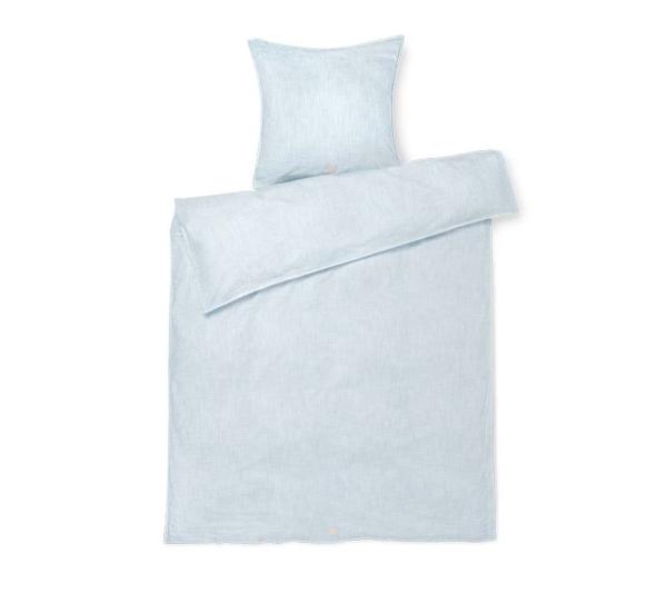 JUNA Monochrome Lines sengetøj Lyseblå