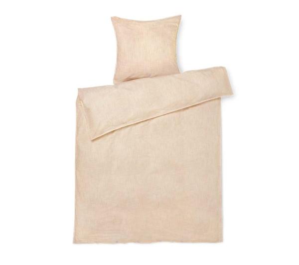JUNA Monochrome Lines sengetøj Ochre