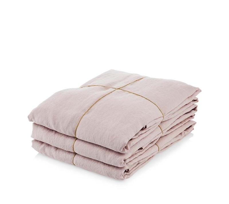 Ordinary Things Hør Sengetøj Blush Pink