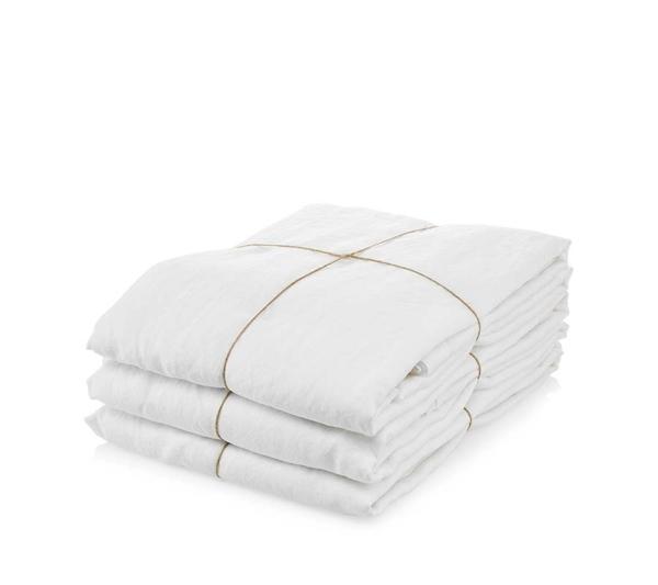 Ordinary Things Hør Sengetøj White